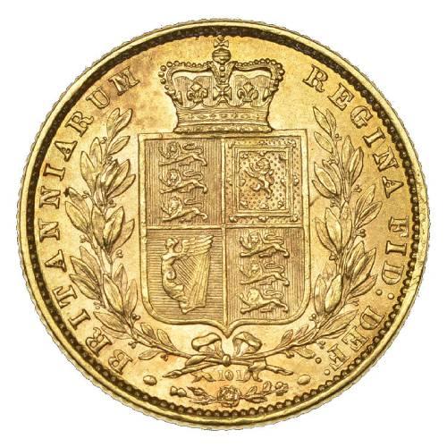 1871 Βικτώρια – Θυρεός (Νομισματοκοπείο Λονδίνου)