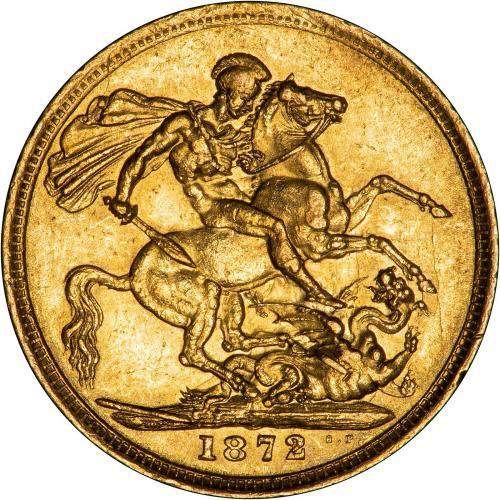 1872 Βικτώρια (Νομισματοκοπείο Μελβούρνης)