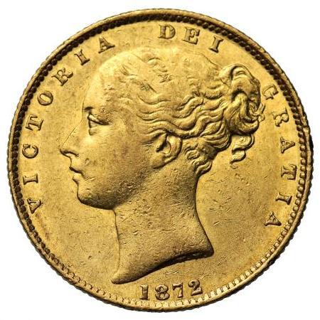 1872 Βικτώρια – Θυρεός (Νομισματοκοπείο Μελβούρνης)