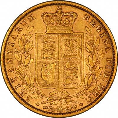 1874 Βικτώρια – Θυρεός (Νομισματοκοπείο Λονδίνου)