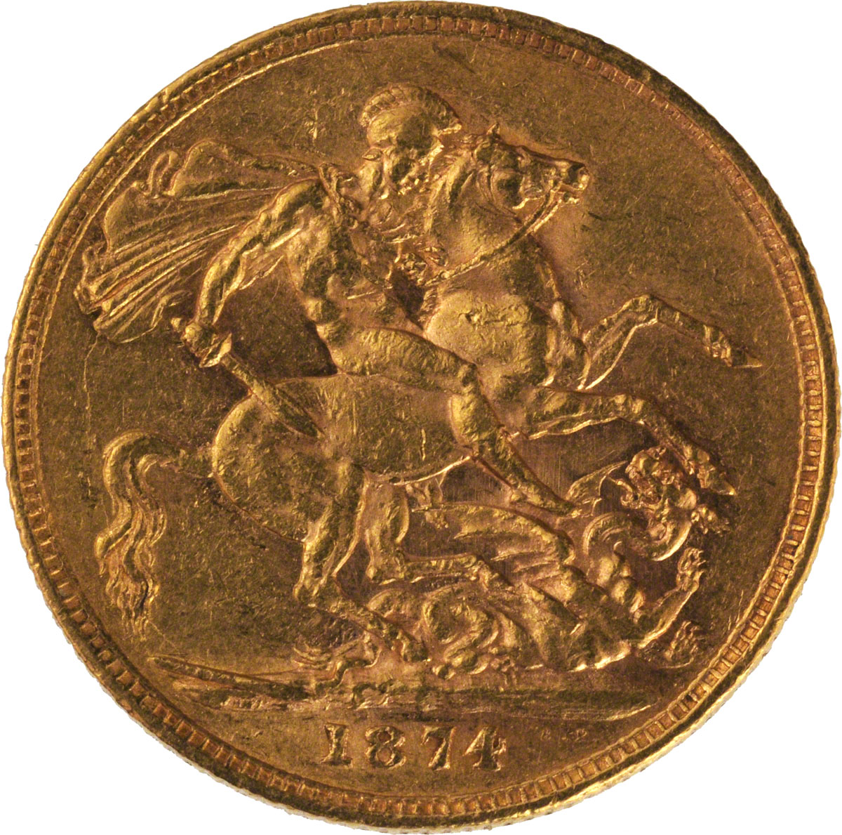 Victoria Young Head St George London Mint
