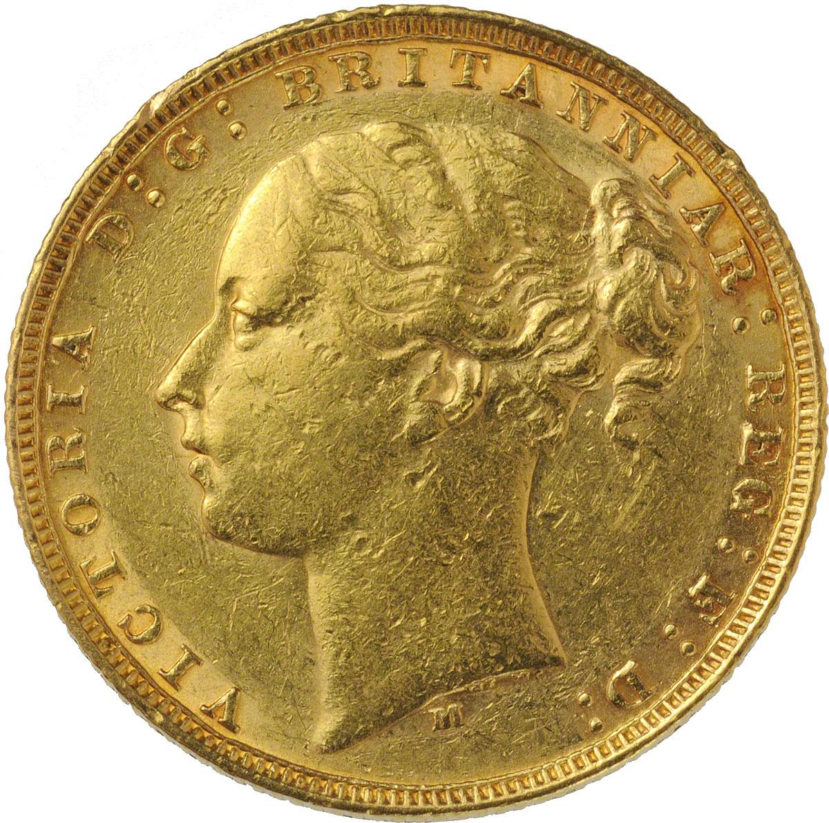 1878 Βικτώρια (Νομισματοκοπείο Μελβούρνης)