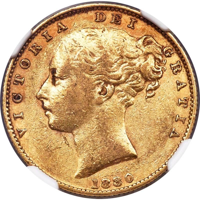 1880 Βικτώρια – Θυρεός (Νομισματοκοπείο Μελβούρνης)