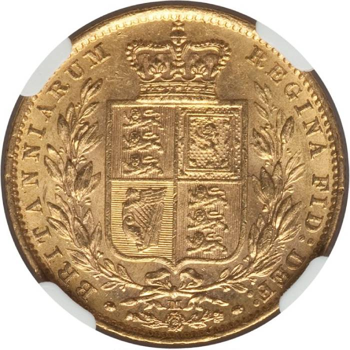 1882 Βικτώρια – Θυρεός (Νομισματοκοπείο Μελβούρνης)