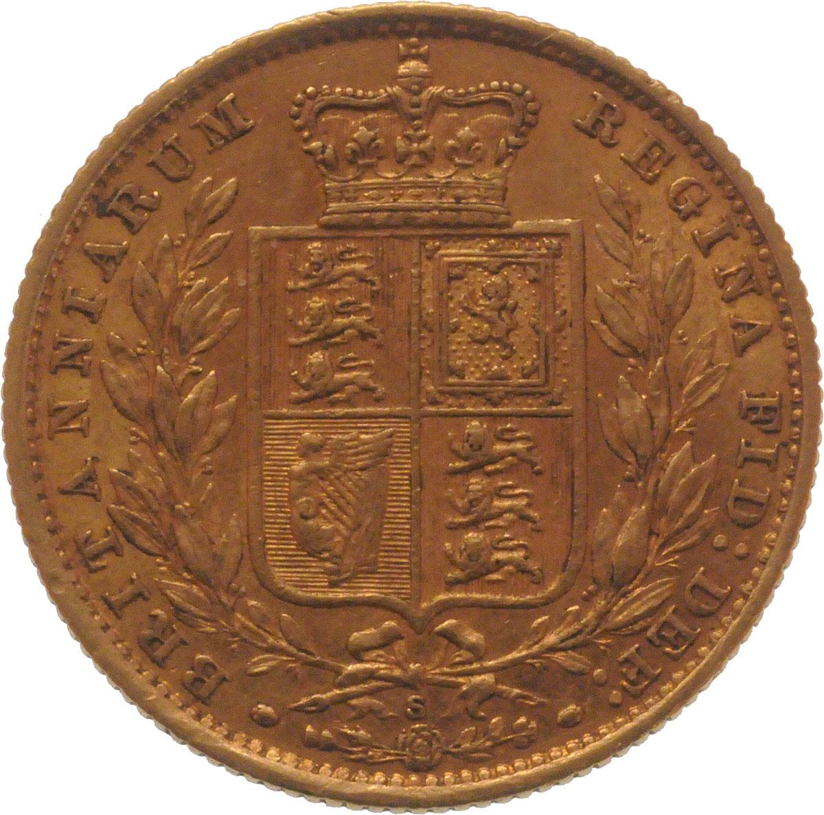 1884 Βικτώρια – Θυρεός (Νομισματοκοπείο Σίδνεϊ)