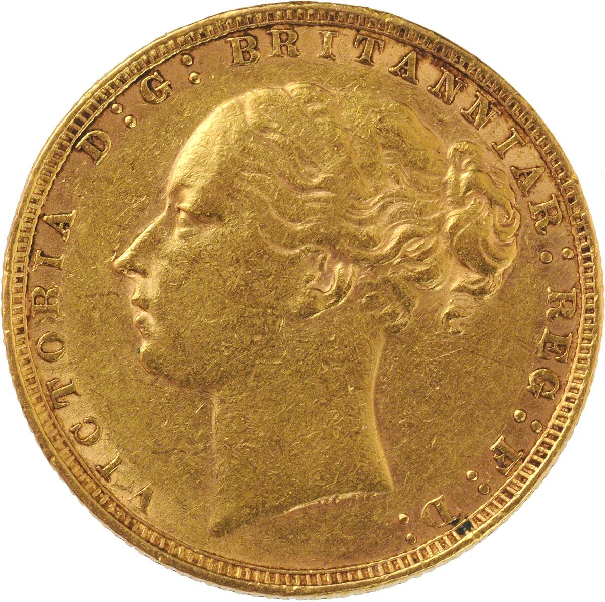 1884 Βικτώρια (Νομισματοκοπείο Λονδίνου)