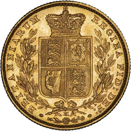 1885 Βικτώρια – Θυρεός (Νομισματοκοπείο Μελβούρνης)