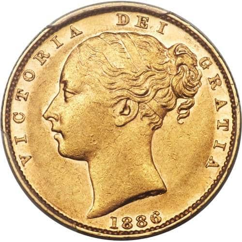 1886 Βικτώρια – Θυρεός (Νομισματοκοπείο Μελβούρνης)