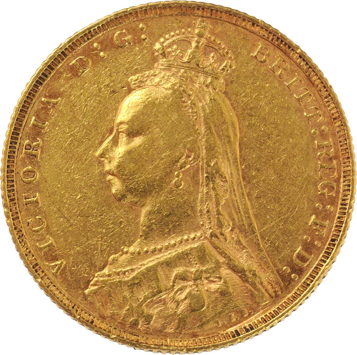 1890 Βικτώρια (Νομισματοκοπείο Λονδίνου)