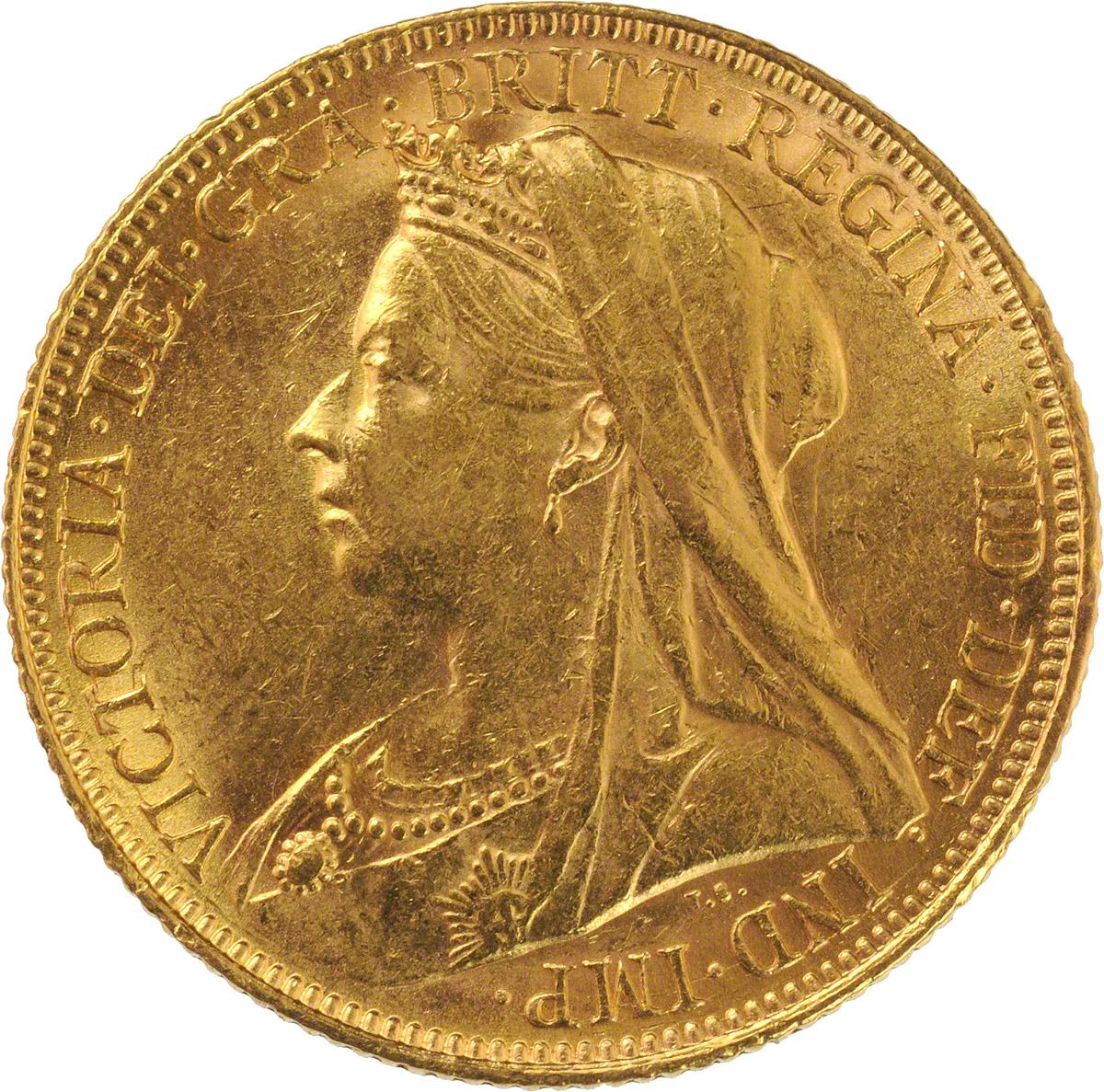 Victoria Veiled Head St George Sydney Mint