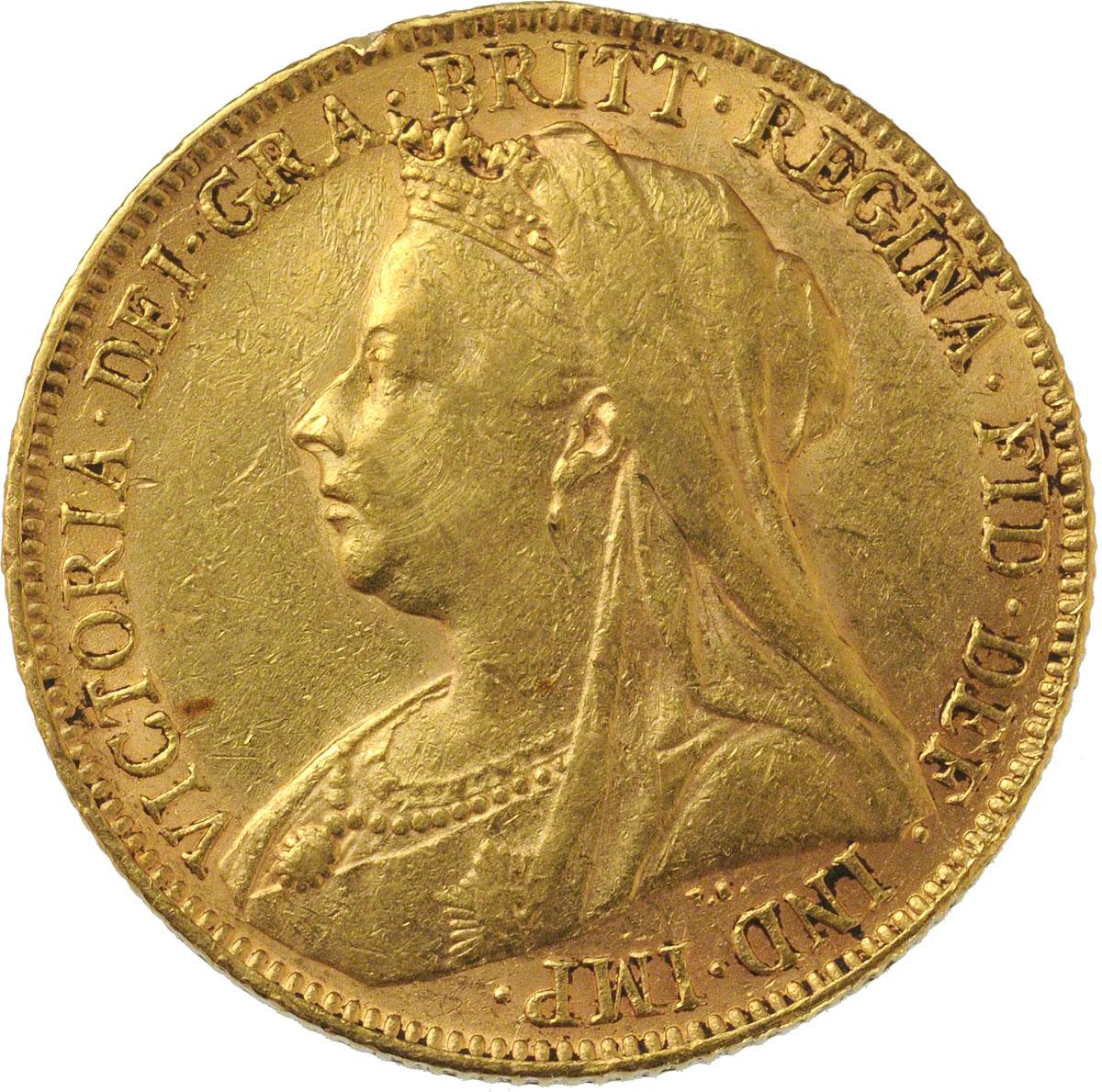 Victoria Veiled Head St George London Mint