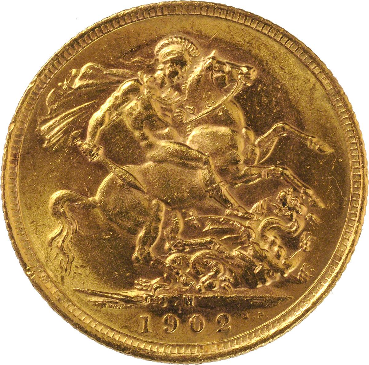 1902 Εδουάρδος Ζ' (Νομισματοκοπείο Μελβούρνης)