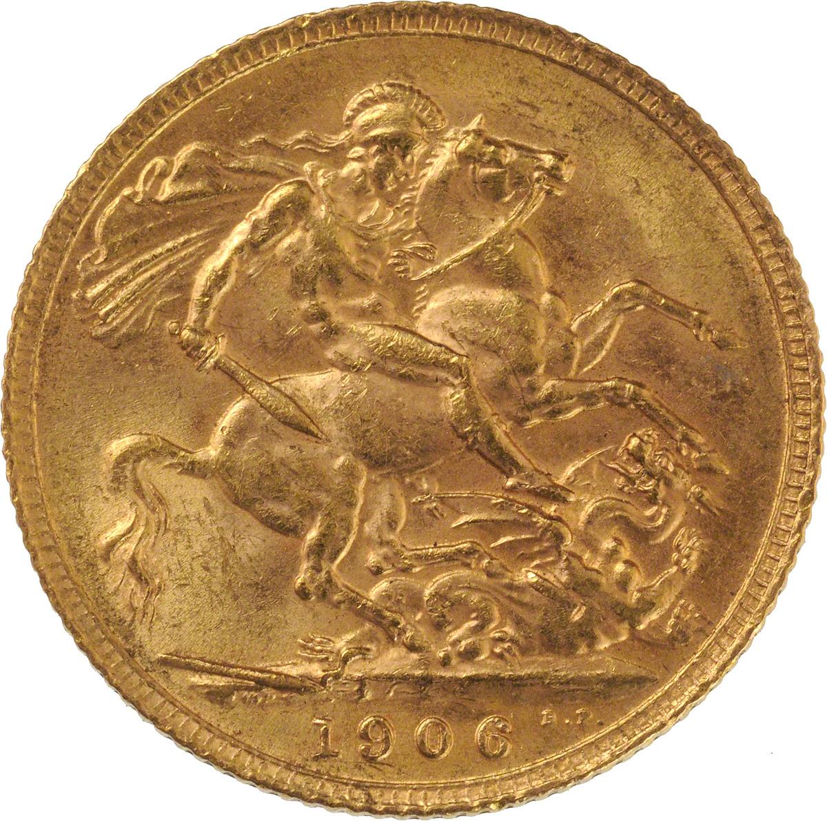 1906 Εδουάρδος Ζ' (Νομισματοκοπείο Λονδίνου)
