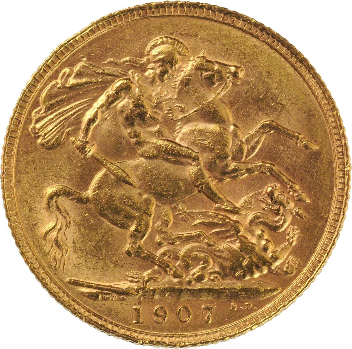 1907 Εδουάρδος Ζ' (Νομισματοκοπείο Λονδίνου)