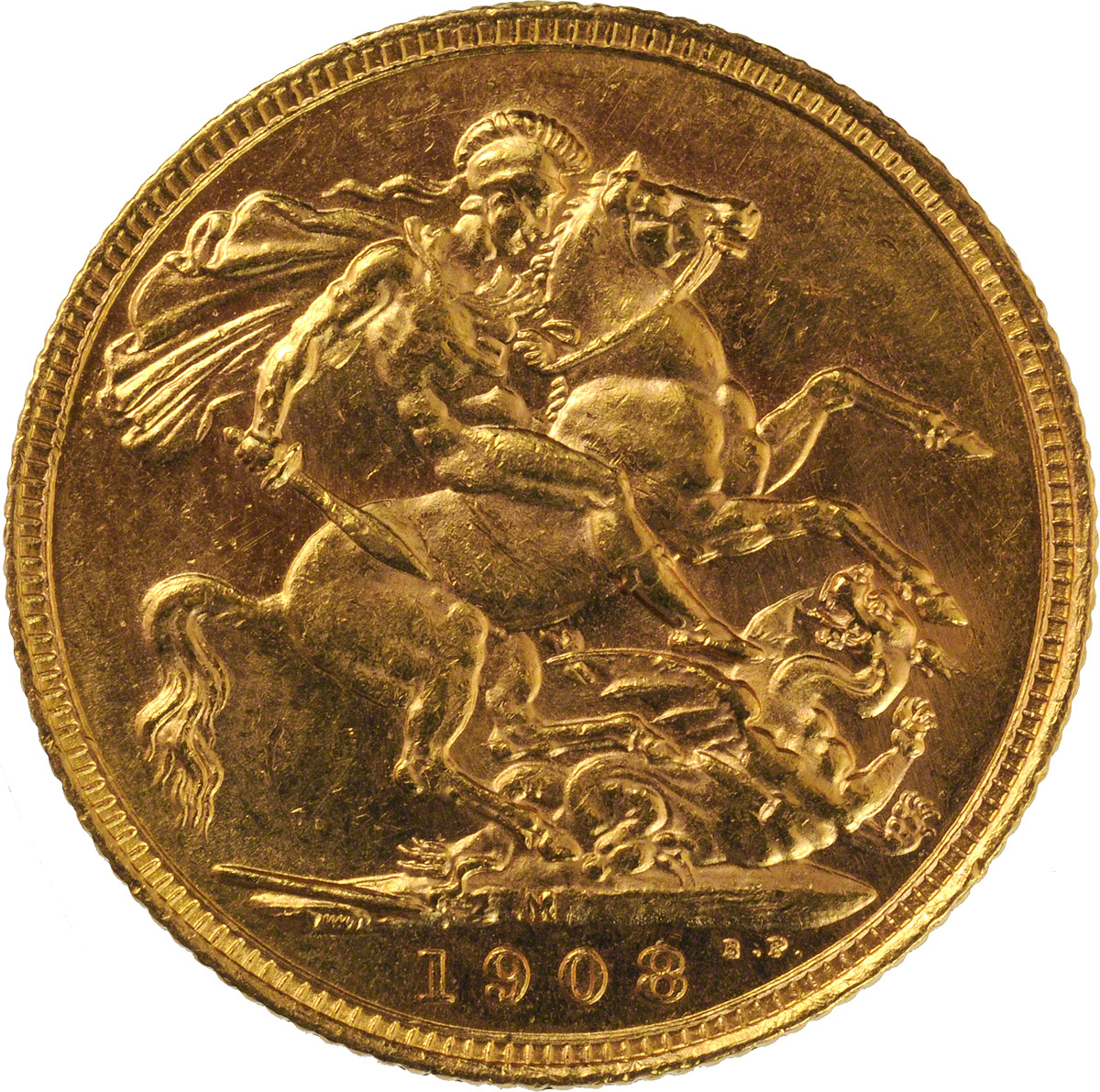 1908 Εδουάρδος Ζ' (Νομισματοκοπείο Μελβούρνης)