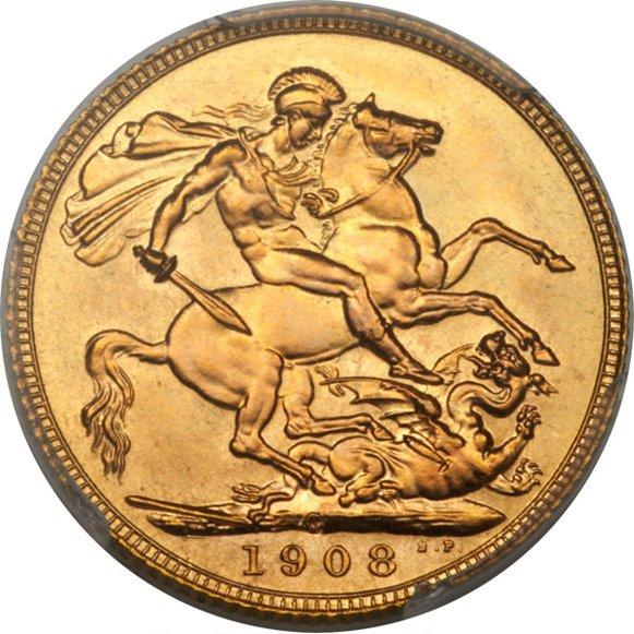 1908 Εδουάρδος Ζ' (Νομισματοκοπείο Οττάβα, Καναδάς)