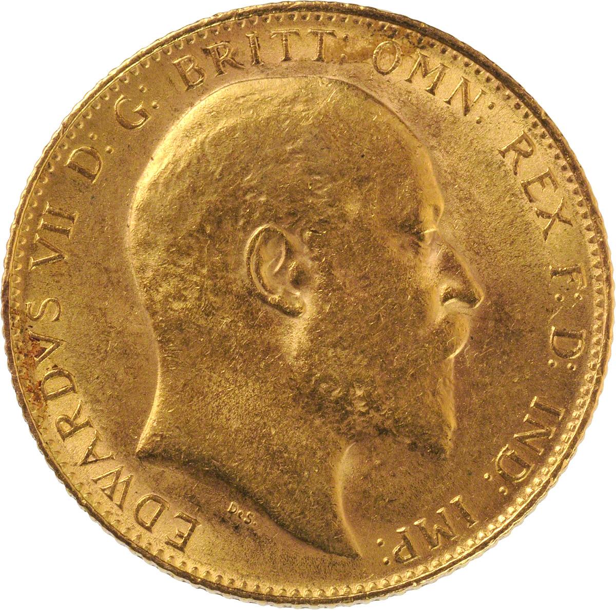 1909 Εδουάρδος Ζ' (Νομισματοκοπείο Λονδίνου)