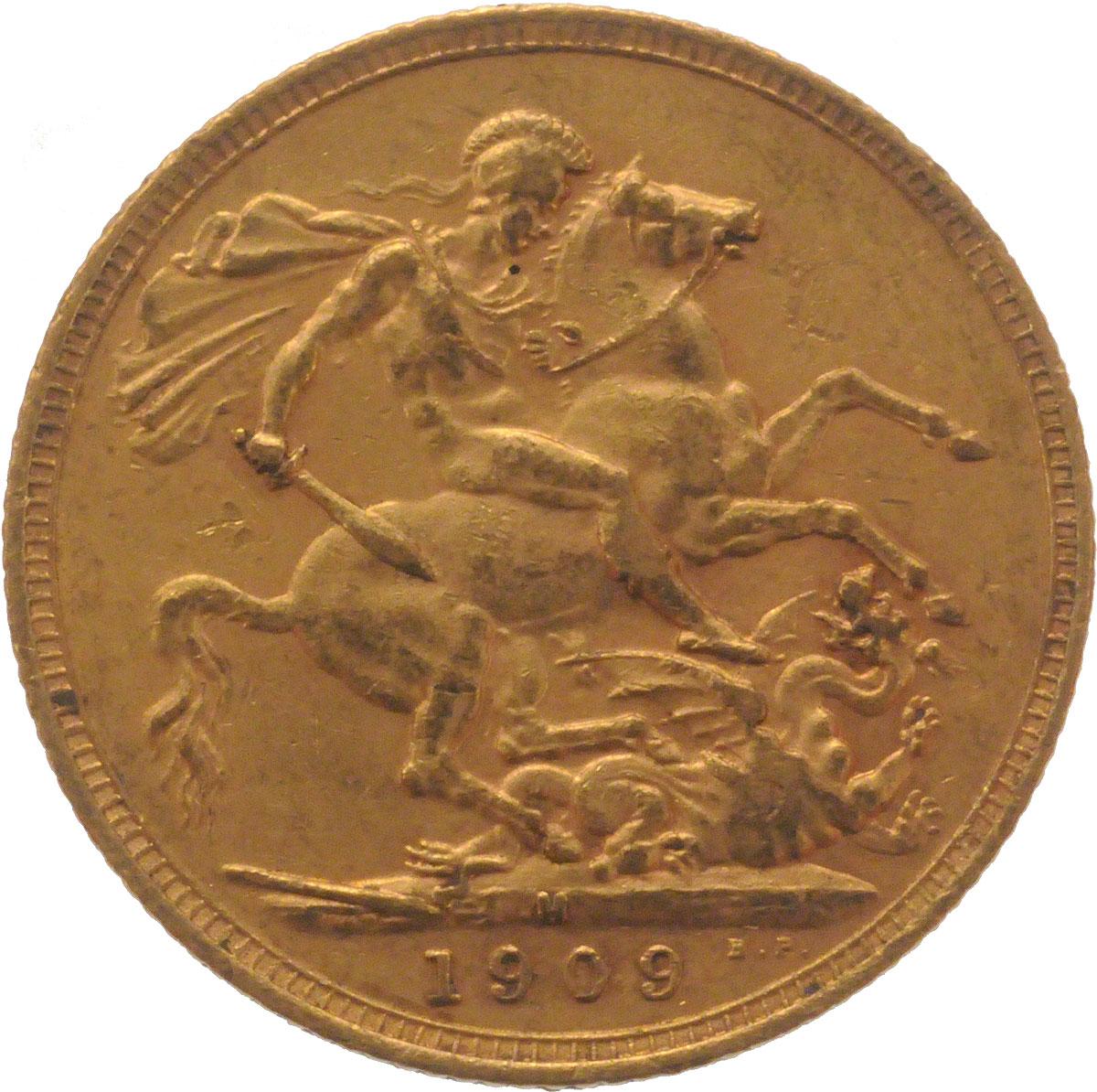 1909 Εδουάρδος Ζ' (Νομισματοκοπείο Μελβούρνης)