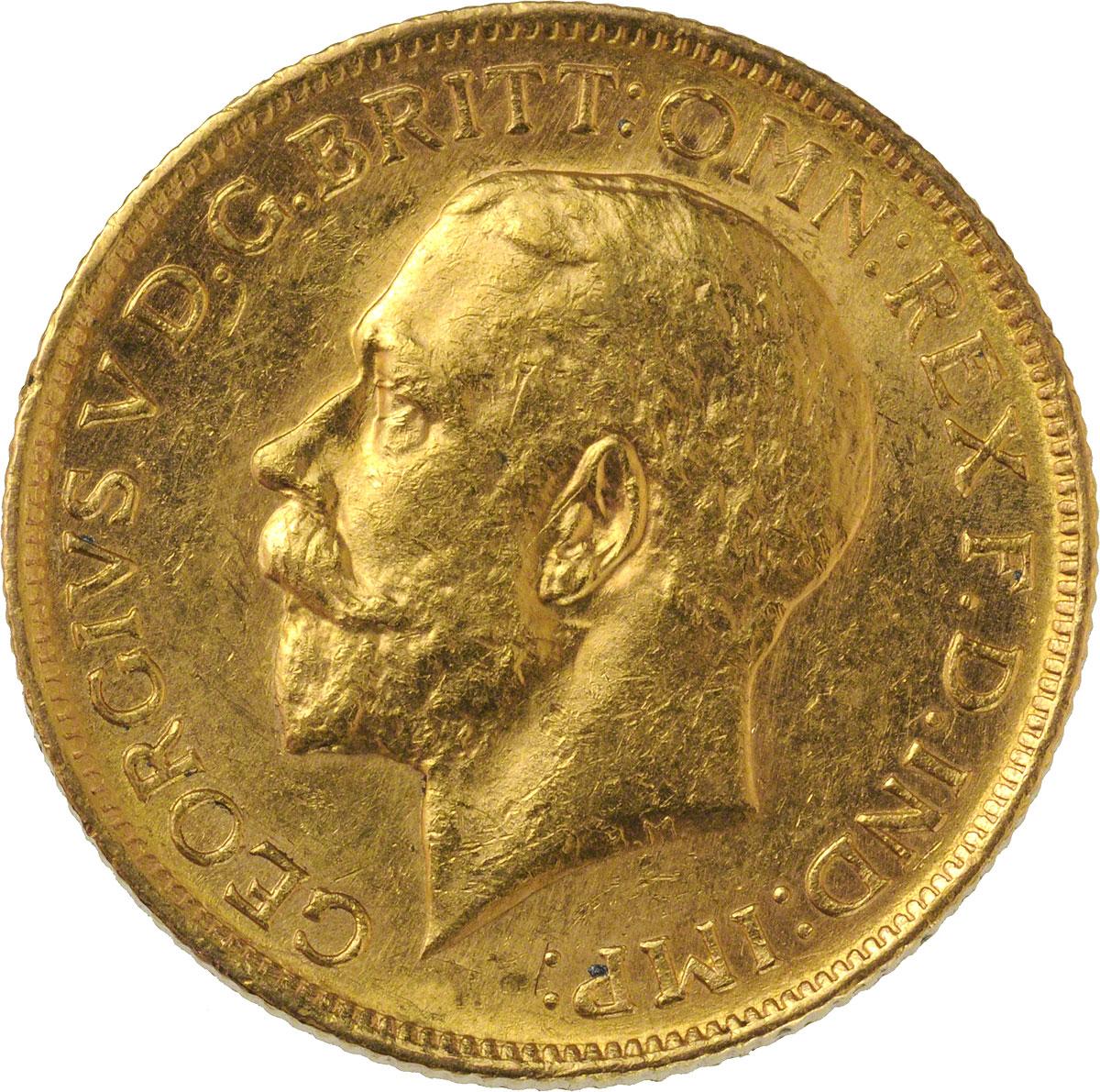 1911 Γεώργιος Ε' (Νομισματοκοπείο Σίδνεϊ)