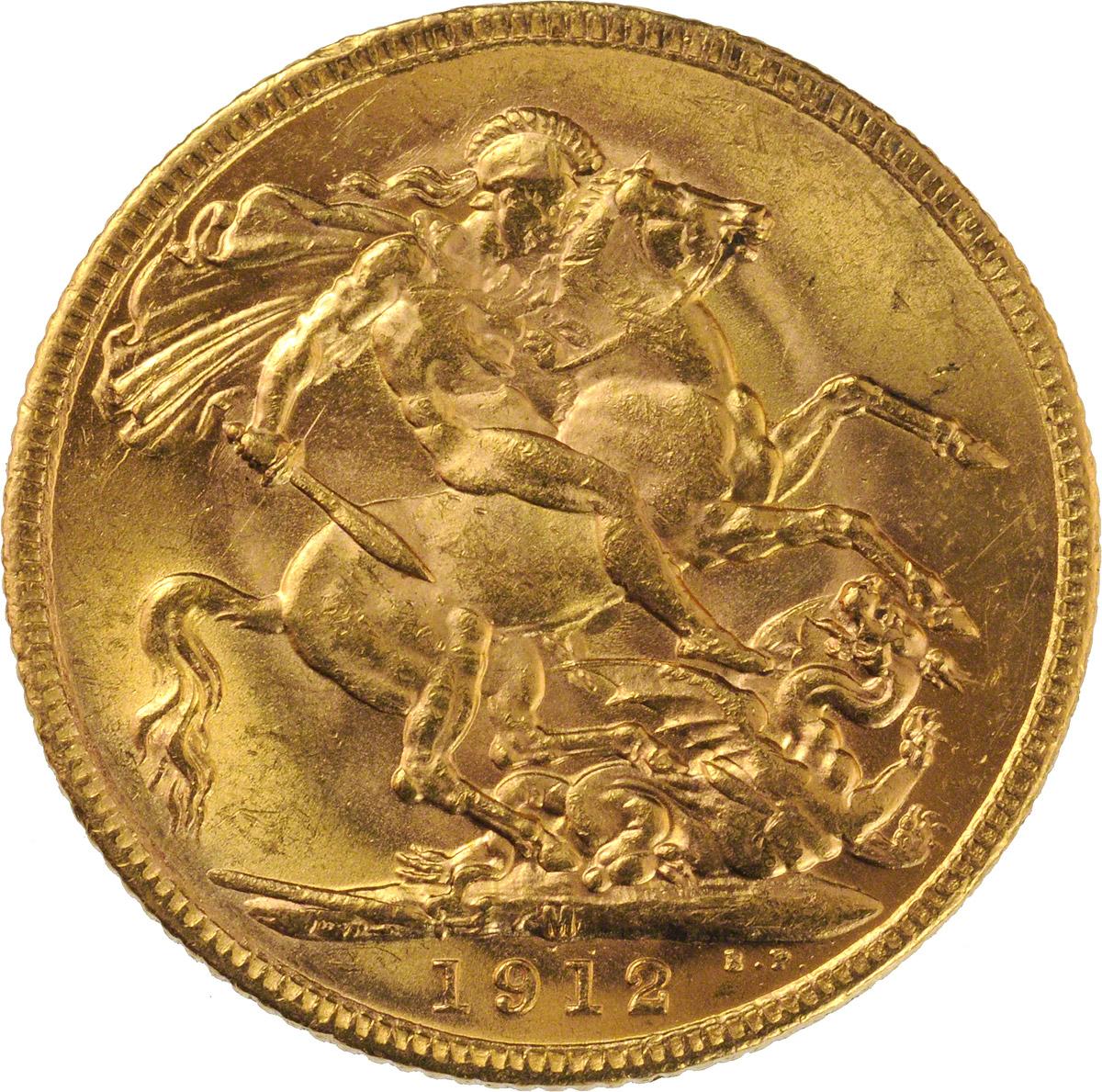 1912 Γεώργιος Ε' (Νομισματοκοπείο Μελβούρνης)