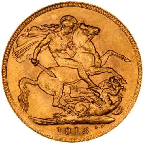 1913 Γεώργιος Ε' (Νομισματοκοπείο Μελβούρνης)