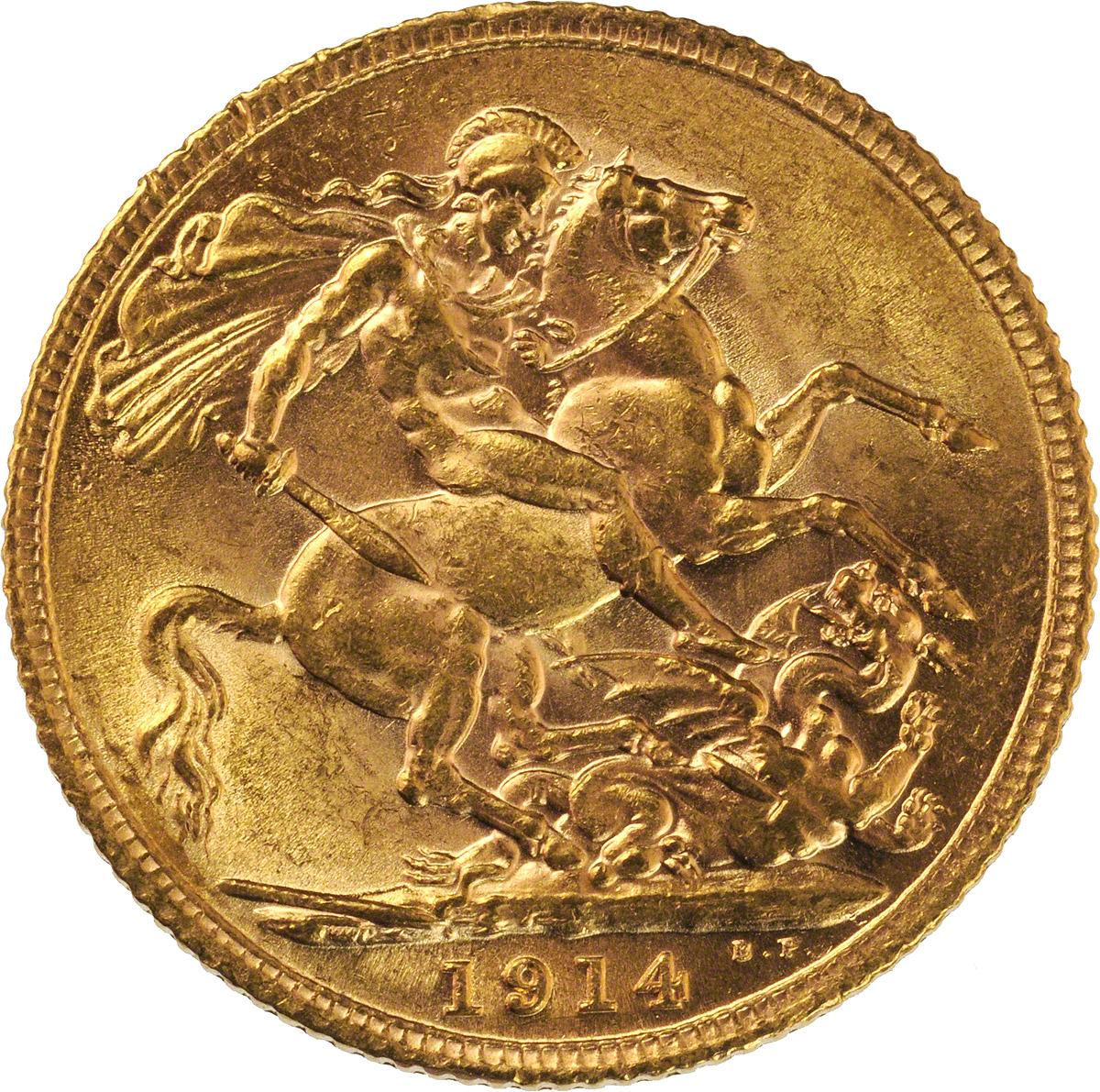 1914 Γεώργιος Ε' (Νομισματοκοπείο Λονδίνου)