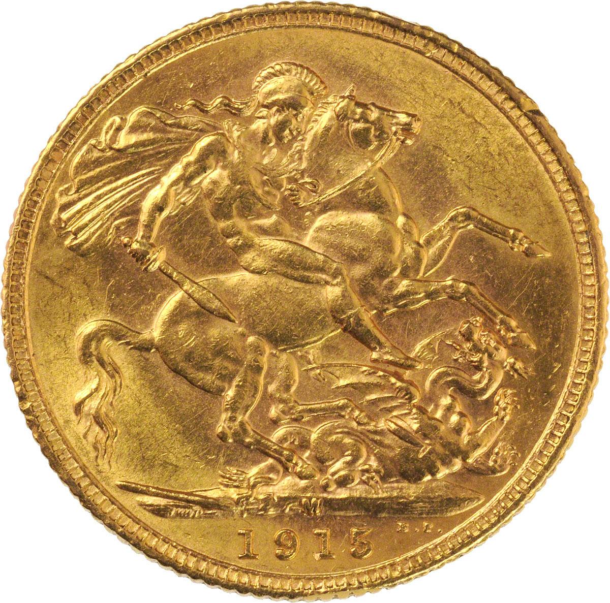 1915 Γεώργιος Ε' (Νομισματοκοπείο Μελβούρνης)