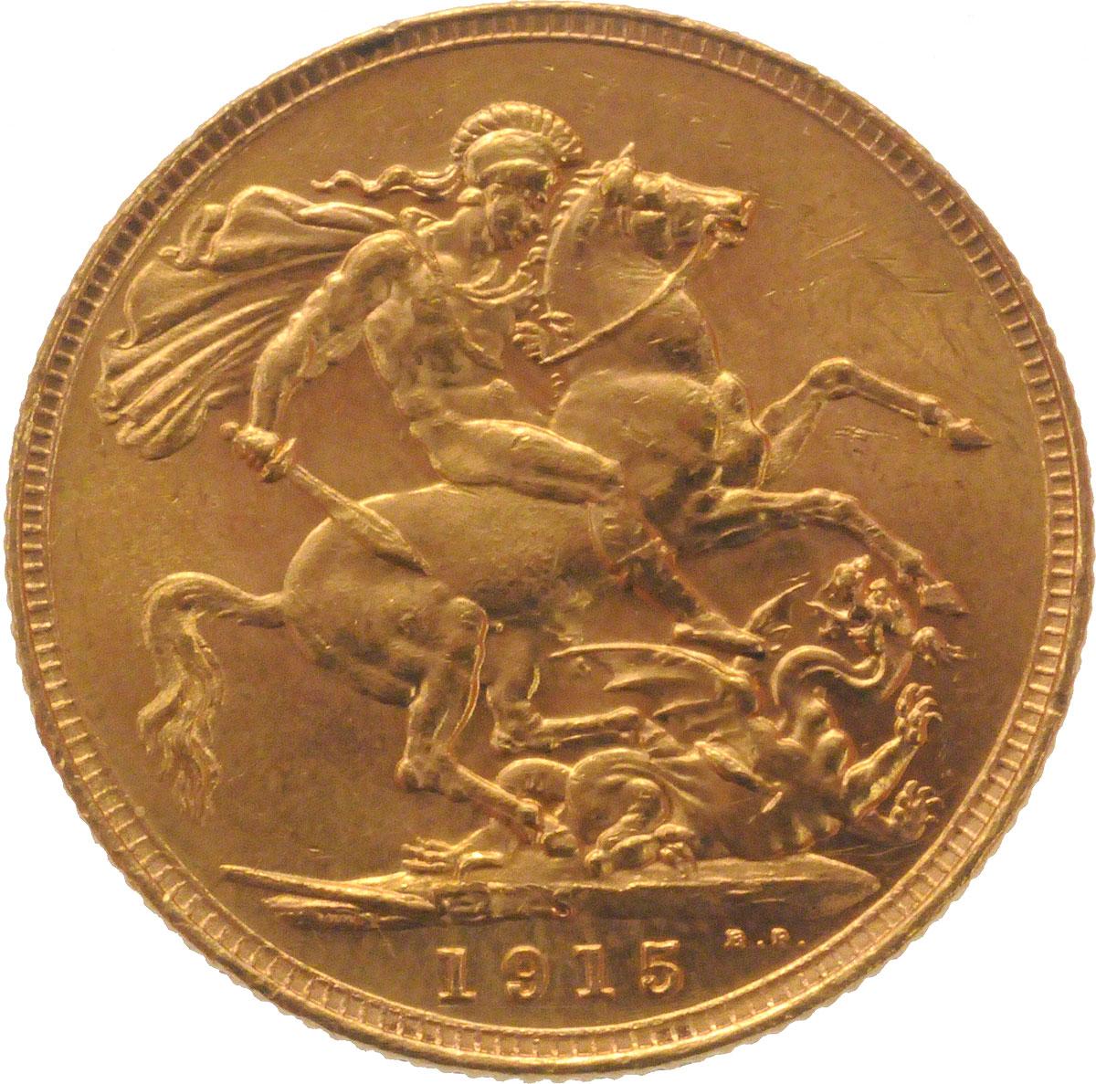 1915 Γεώργιος Ε' (Νομισματοκοπείο Σίδνεϊ)