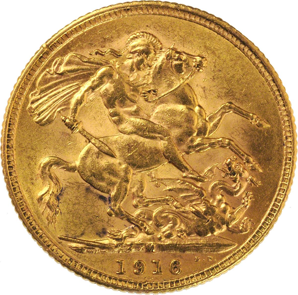 1916 Γεώργιος Ε' (Νομισματοκοπείο Μελβούρνης)