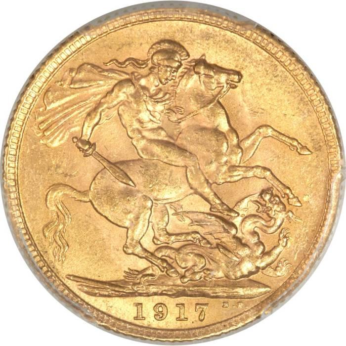 1917 Γεώργιος Ε' (Νομισματοκοπείο Λονδίνου)