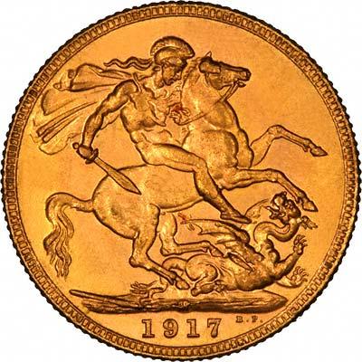 1917 Γεώργιος Ε' (Νομισματοκοπείο Μελβούρνης)