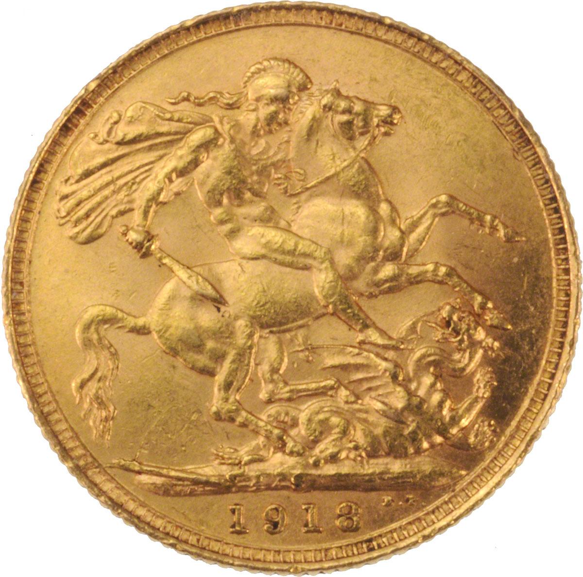 1918 Γεώργιος Ε' (Νομισματοκοπείο Σίδνεϊ)