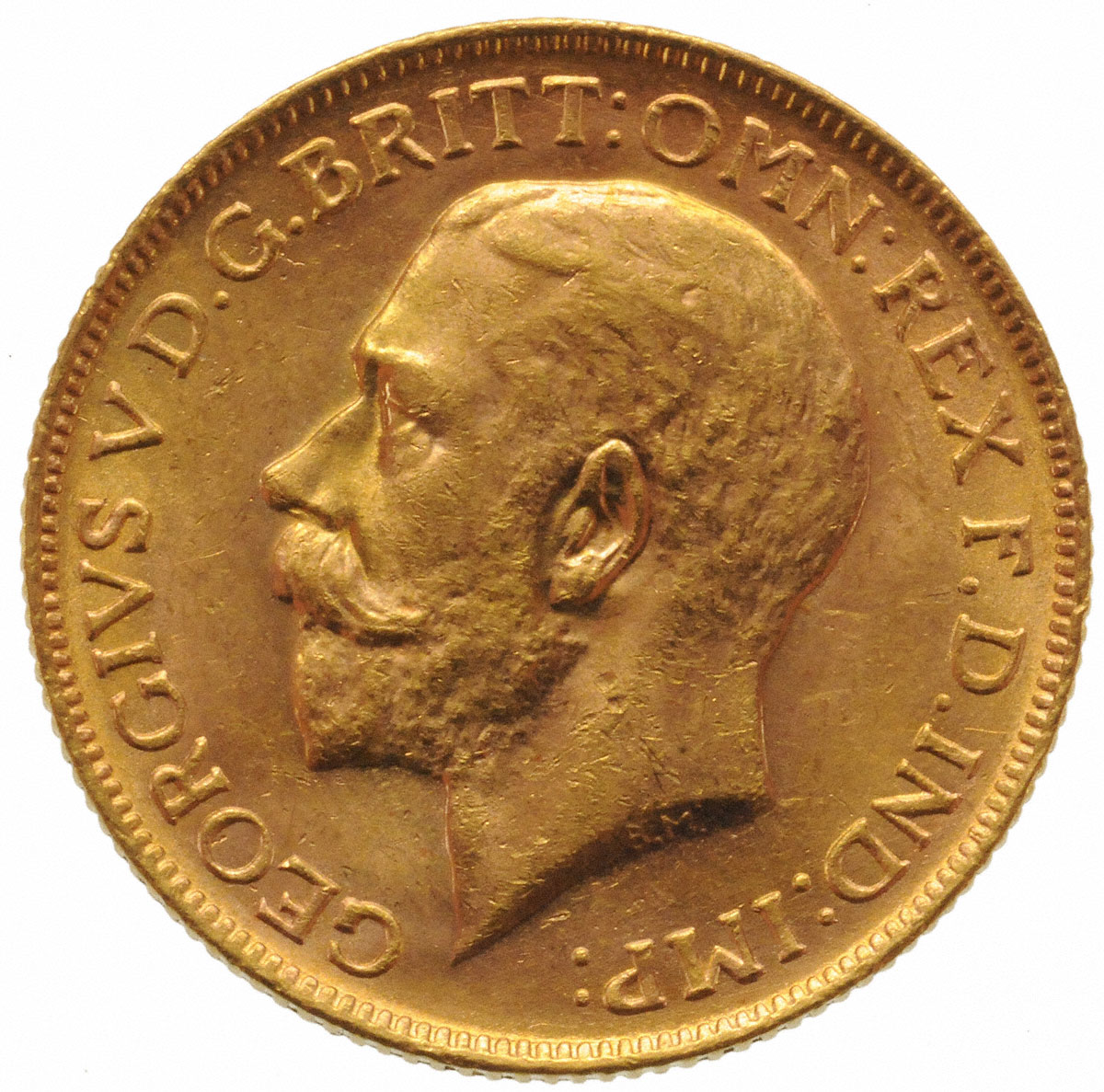 1918 Γεώργιος Ε' (Νομισματοκοπείο Μελβούρνης)