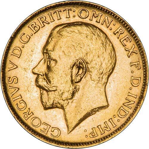 1919 Γεώργιος Ε' (Νομισματοκοπείο Μελβούρνης)
