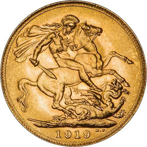 1919 Γεώργιος Ε' (Νομισματοκοπείο Περθ)