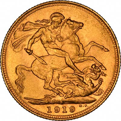 1919 Γεώργιος Ε' (Νομισματοκοπείο Σίδνεϊ)