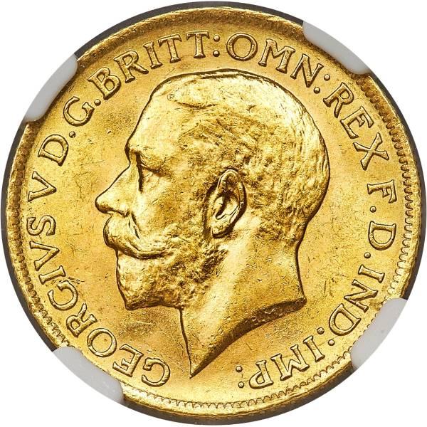 1921 Γεώργιος Ε' (Νομισματοκοπείο Μελβούρνης)