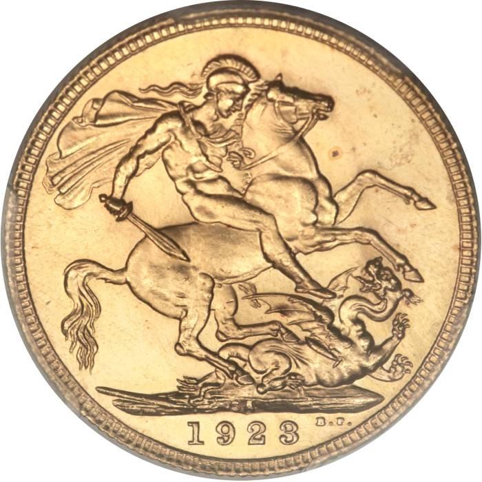 1923 Γεώργιος Ε' (Νομισματοκοπείο Πρετόρια, Νότια Αφρική)