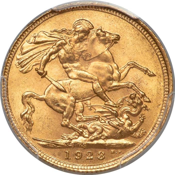 1923 Γεώργιος Ε' (Νομισματοκοπείο Σίδνεϊ)