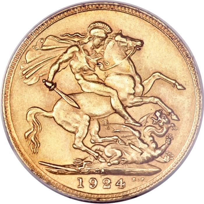 1924 Γεώργιος Ε' (Νομισματοκοπείο Πρετόρια, Νότια Αφρική)