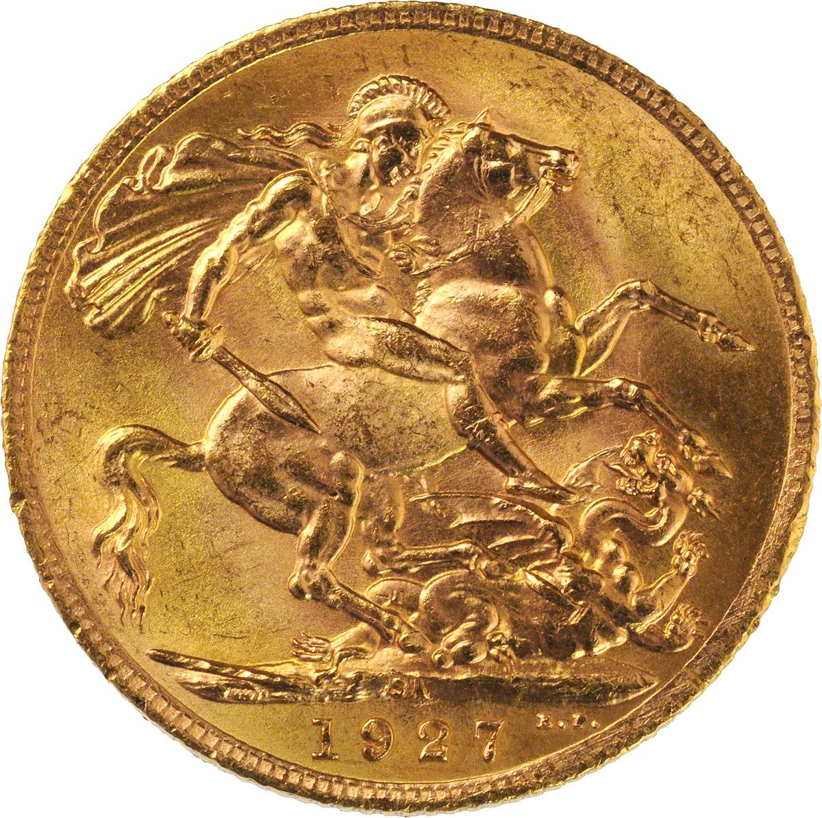 1927 Γεώργιος Ε' (Νομισματοκοπείο Πρετόρια, Νότια Αφρική)