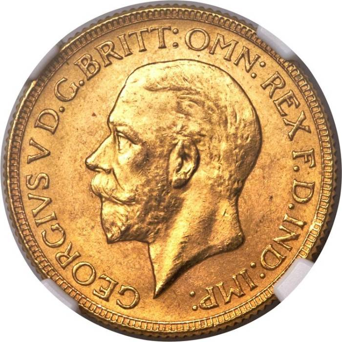 1929 Γεώργιος Ε' (Νομισματοκοπείο Μελβούρνης)
