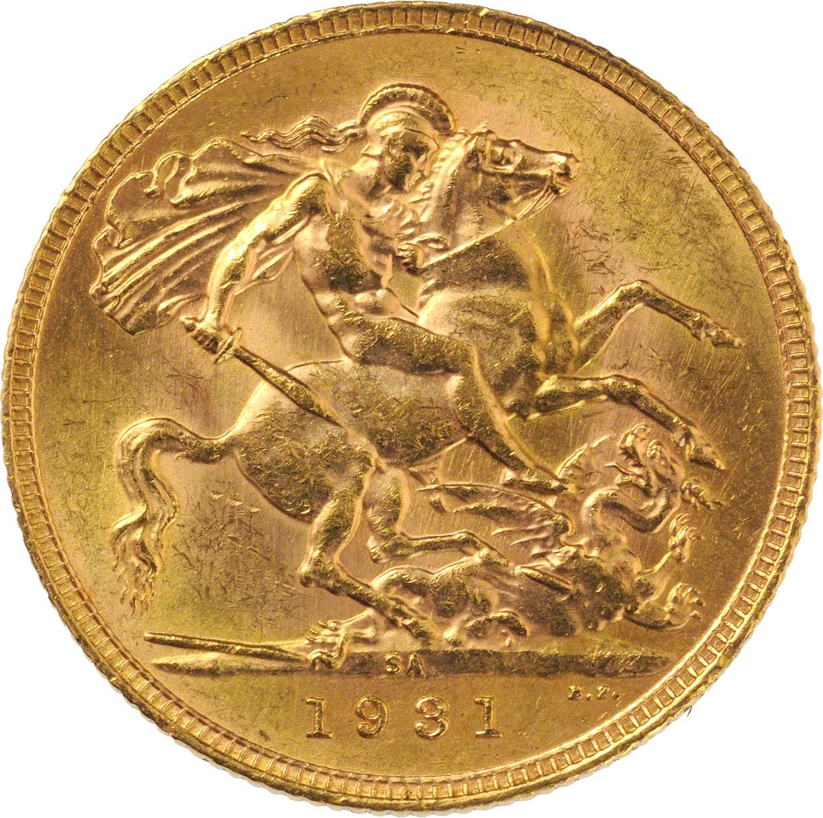 1931 Γεώργιος Ε' (Νομισματοκοπείο Πρετόρια, Νότια Αφρική)