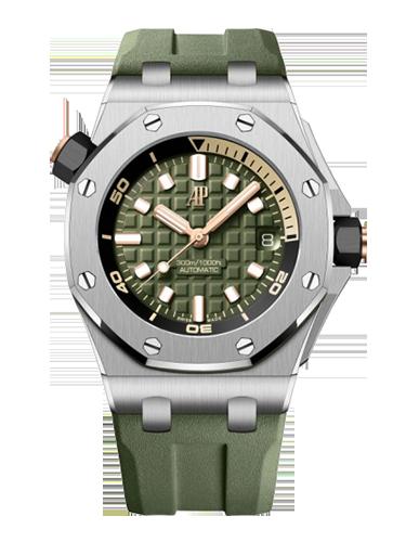 Audemars Piguet 15720ST.OO .A052CA.01 Royal Oak Offshore Diver Stainless Steel Green
