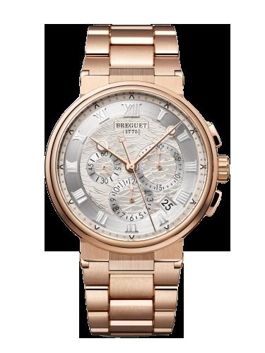 Breguet Marine Chronograph 5527 Rose Gold Silver Bracelet
