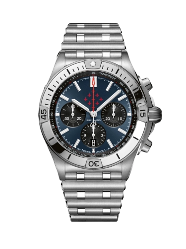 Breitling AB01347A1C1A1 Chronomat B01 42 Stainless Steel Red Arrows Rouleaux 1