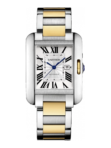 Cartier W5310047 Tank Anglaise 29.8 Stainless Steel Yellow Gold Silver Bracelet 1