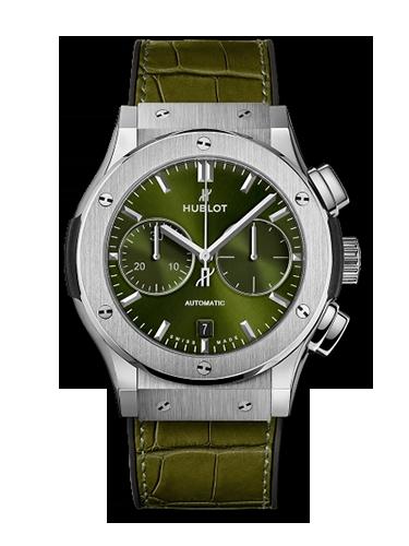 Hublot 521.NX .8970.LR Classic Fusion 45 Chronograph Titanium Green 1