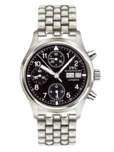 IWC IW3706 07 Pilots Watch Chronograph Stainless Steel Black English Bracelet
