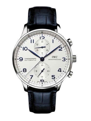 IWC IW3714 17 Portuguese Chrono Automatic Stainless Steel Silver